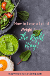 A bowl of spinach salad with guacamole and a fried egg on a slate grey background. How to Lose a Lot of Weight Fast - The Right Way | Drop 20 Pounds Fast! | Graphic | how to lose weight fast