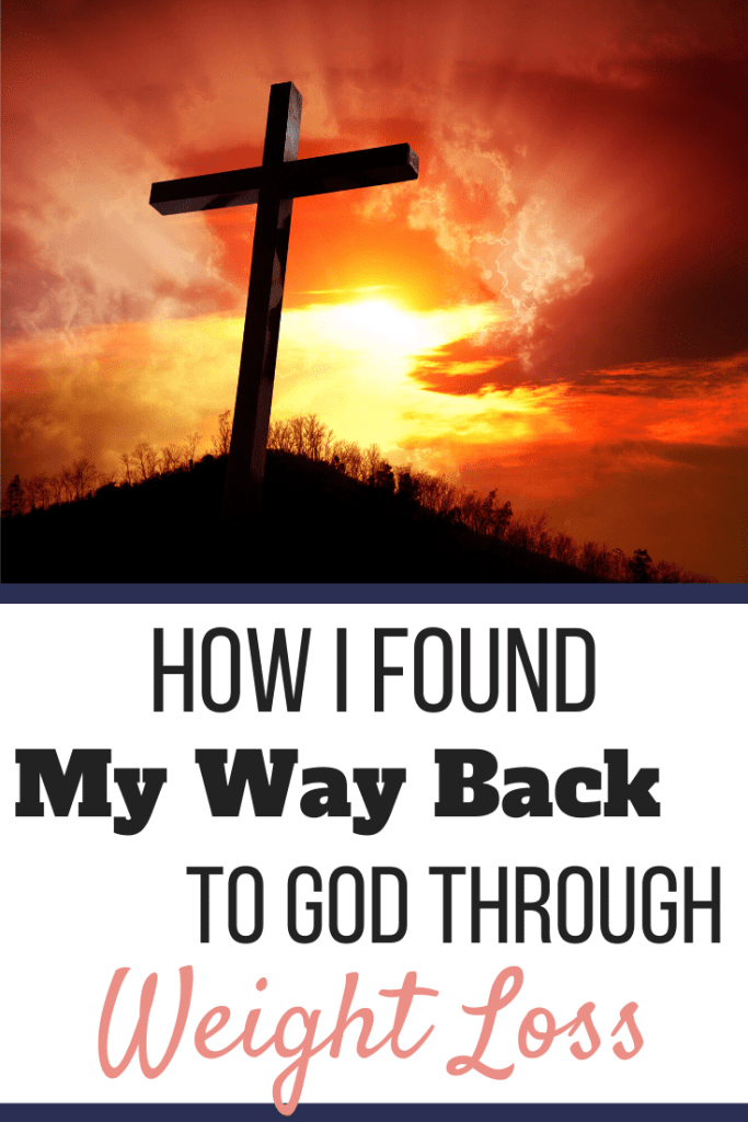 A cross silhouetted against a sunset sky. | How I Found My Way Back to God Through Weight Loss | A Child of God | Image | Coming back to God after falling away
