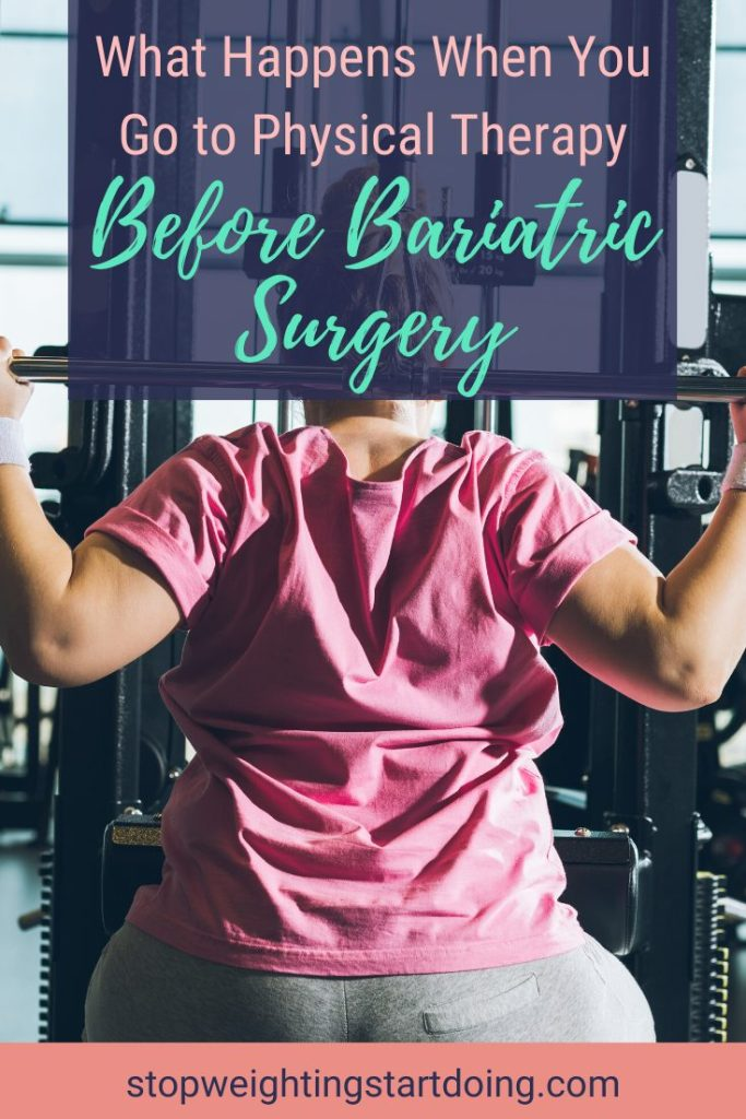 A woman doing lat pulls at a gym. What Happens When You Go To Physical Therapy Before Bariatric Surgery | Graphic | bariatric surgery and physical exercise, exercise and weight loss surgery