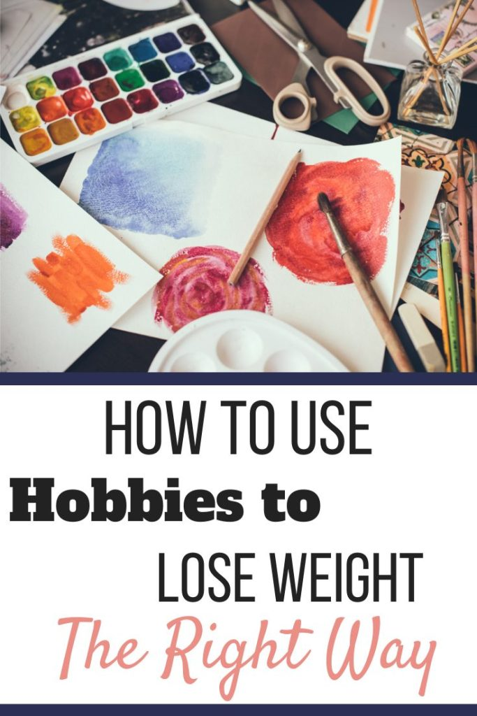 Water colors, paint brushes, paper, scissors, and a reed diffuser. | How to Use Hobbies to Lose Weight the Right Way | Conquer Stress | Graphic | fun ways to lose belly fat, fun hobbies to lose weight