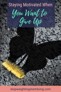 A caterpillar crawling on the ground with a butterfly shadow against it. Staying Motivated When You Want to Give Up | How to Stay Focused | Graphic | motivation when you want to give up, staying motivated to lose weight