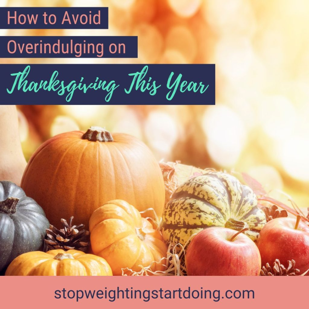 Pumpkins, gourds, and apples on a straw hay bale against pretty fall lights. Avoid Overindulging on Thanksgiving This Year | Get the Planner | Thanksgiving, turkey day plan, strategies, overeating