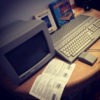 Atari 1040ST with original Atari SM124 screen
