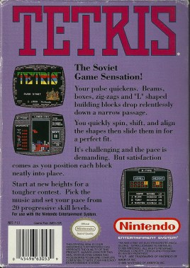 NES - Tetris back