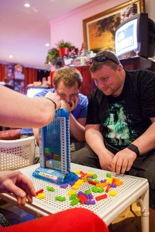 Playing Tetris Tower 3D board game