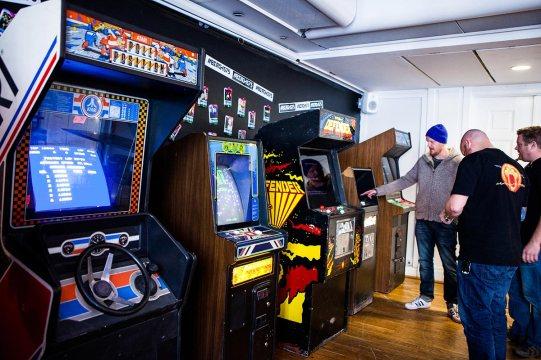Vintage arcade cabinets