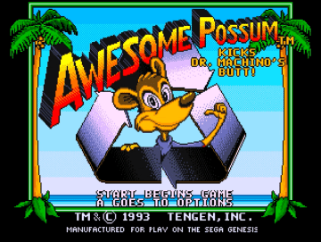 Awesome Possum Sega Mega Drive