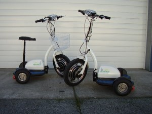 GoPET electric scooter and warehouse transport