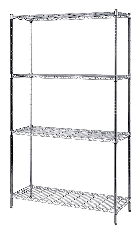 Chrome Wire 10 Inch Deep 4 Shelf Units