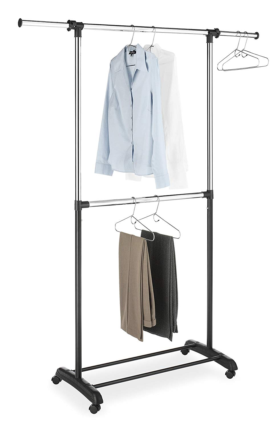 Double Hang Clothes Rack Storables
