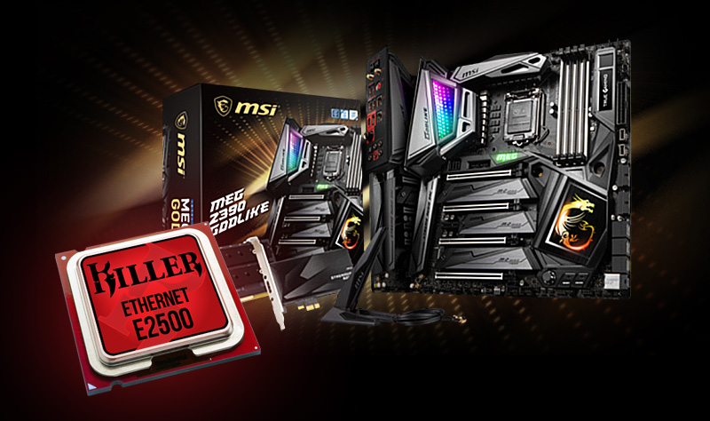MSI MEG Z390 GODLIKE get the fastest WiFi module with Killer