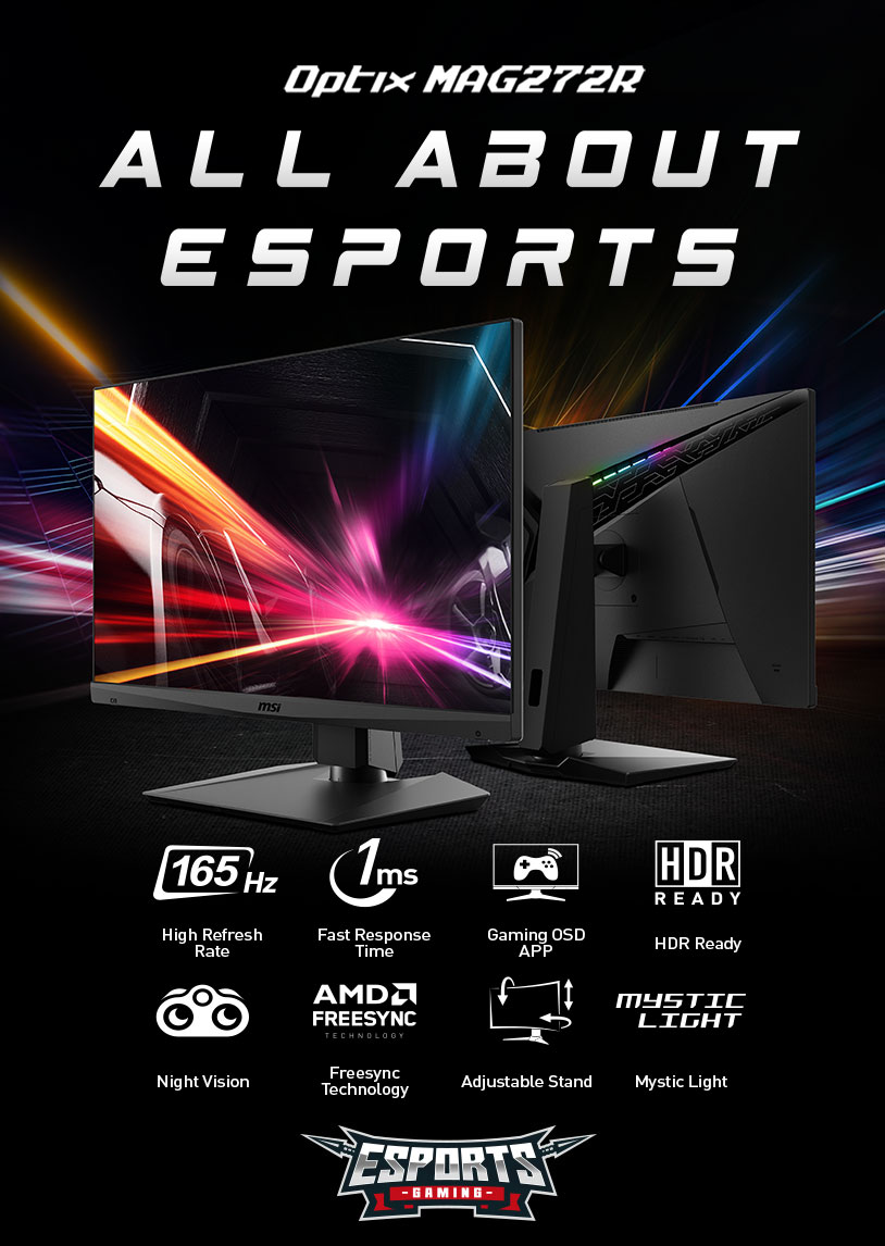 Msi True Color Update : color, update, Optix, MAG271R, Redefine, ESports, Rules, Gaming, Monitor