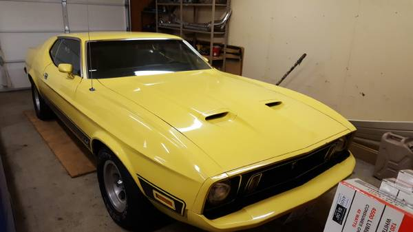 The first ford mustang rolled off the assembly line on march 9, 1964, and a little over a month later, on a. Original 1973 Ford Mustang Mach 1 Canaryyellow Black Markingstripesobo 29950 Lakewood Cars Trucks For Sale Austin Tx Shoppok