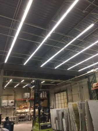 led lights pole barn shop office cut