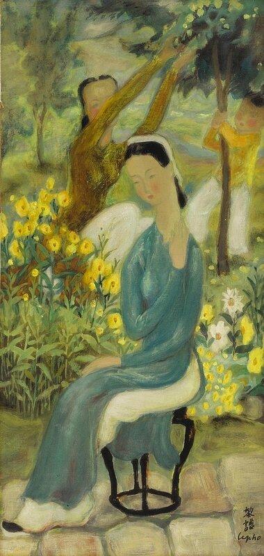 Lê Phổ (1907-2001), La Cueillette (Fruit Picking)