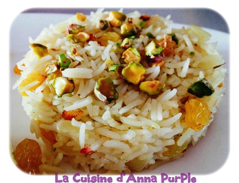 riz pilaf pistaches et raisins secs blonds 2 - LA CUISINE DANNA PURPLE (2)