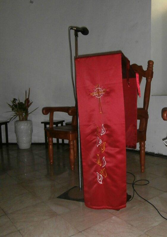 Liturgie et voiles de pupitre  Zabrico ka bwod