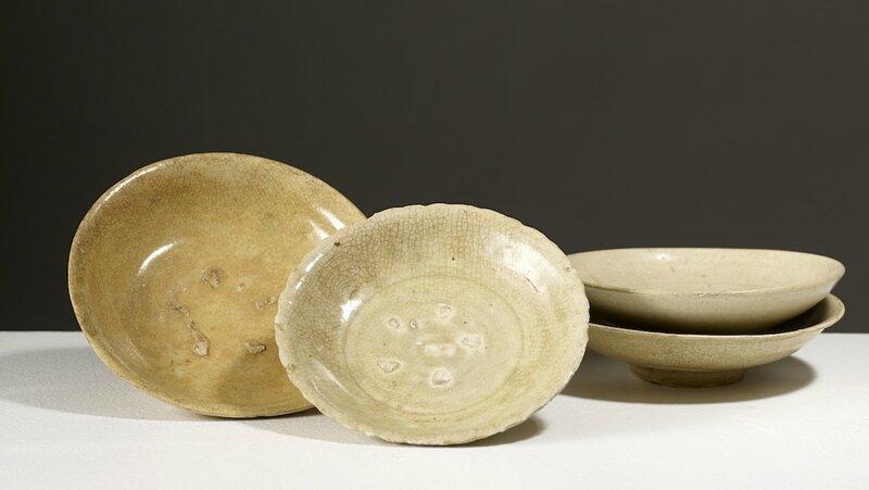 Quatre assiettes , Vietnam, dynastie des Trần, 13°-14°siècle
