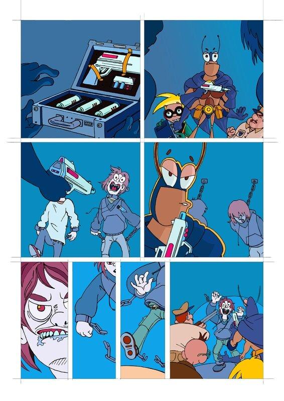 Crayonné page 12 Blateman et Bobine T1