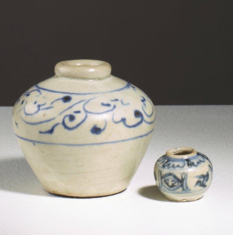 Lot de deux pots, Vietnam, dynastie des Lê, 14-16° siècle