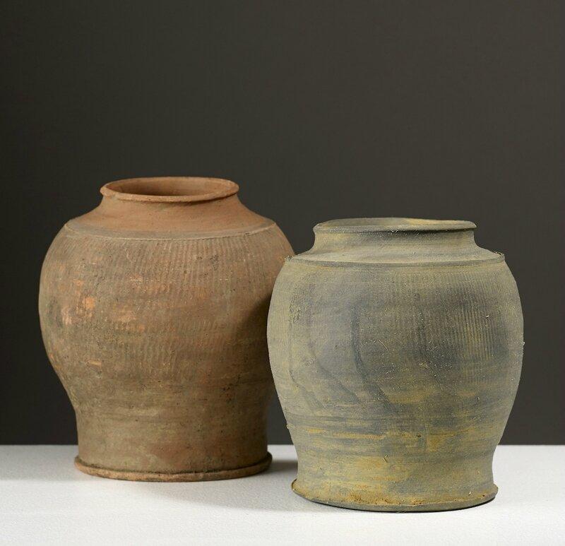 Deux jarres, Vietnam, dynastie des Lê, 14°-15° siècle