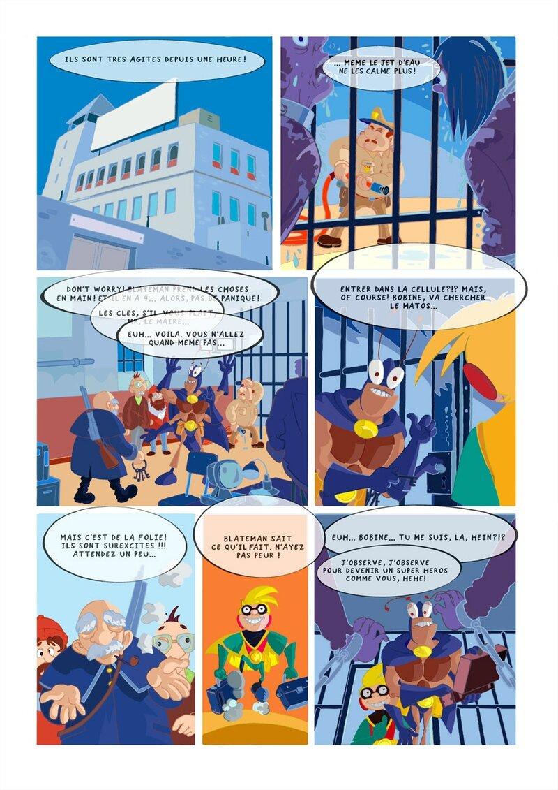 étape 03 couleurs page 11 Blateman et Bobine T1