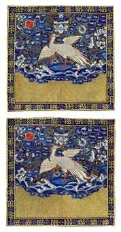 a_pair_of_embroidered_civil_officials_rank_badges_of_paradise_flycatch_d5477076h
