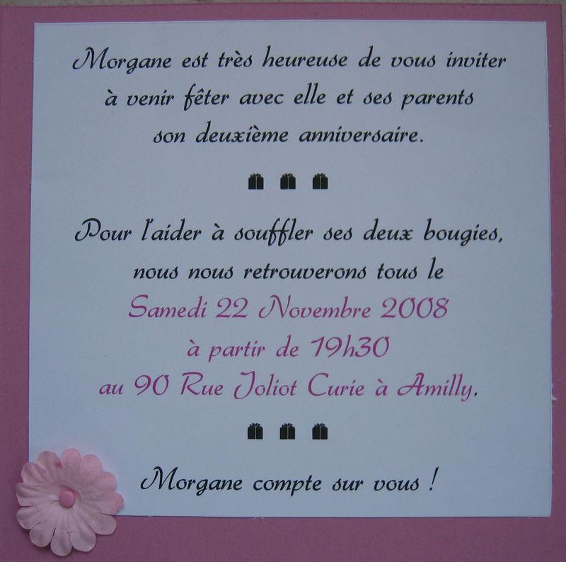 Exemple Invitation 20 Ans Mq36 Montrealeast