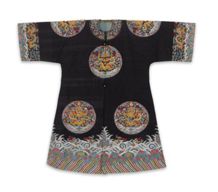 A_RARE_IMPERIAL_BLUE_GROUND_KESI_SURCOAT__JIAGUA___QING_DYNASTY