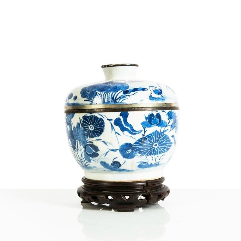 Pot couvert en porcelaine 'Bleu de Huê', Chine pour le Vietnam, Huê, XIXe siècle