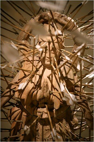 """Detail of """"The Age of Not Believing in God"""" (1999)"""
