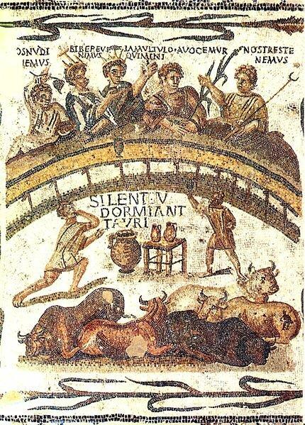 Une scène présantant des jeux dans l'amphithéâtre de Thysdrus ou el Jem