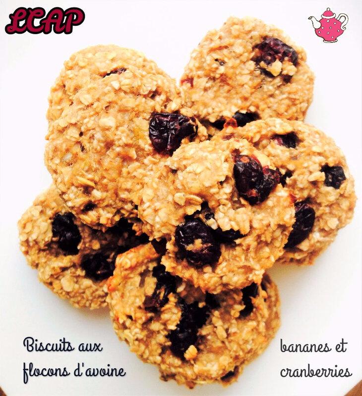 biscuits flocons d'avoine banane et cranberries- la cuisine danna purple