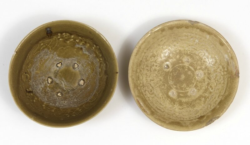 deux assiettes, Vietnam, dynastie des Trần (13°-14° siècle)