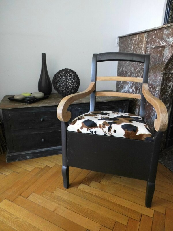fauteuil vache ambiance