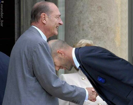 Zidane headbutts Chirac