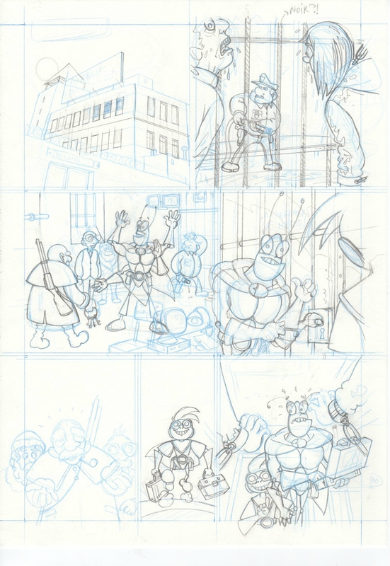 Crayonné page 11 Blateman et Bobine T1