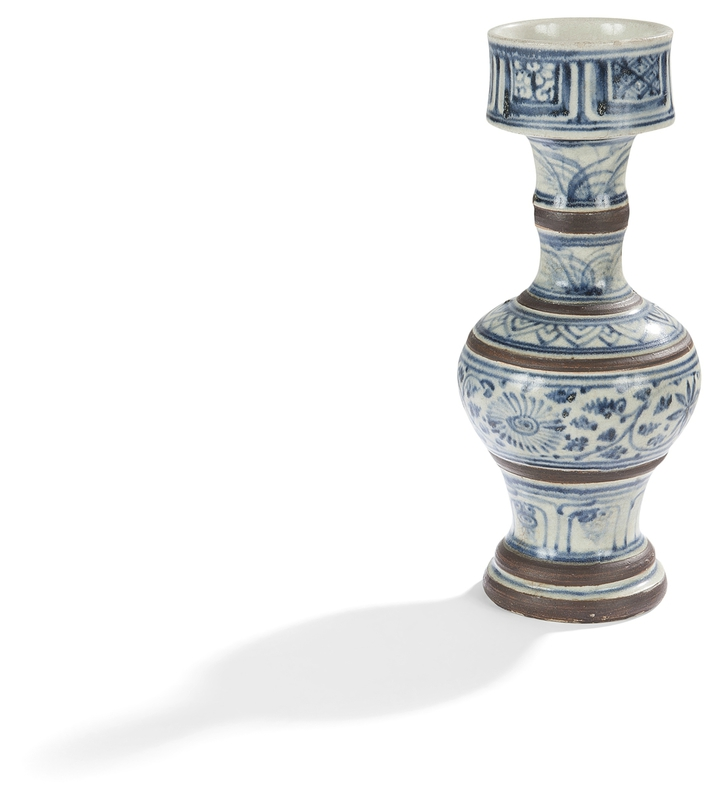 Chandelier en céramique bleu blanc, Vietnam, XVIIe-XVIIIe siècle
