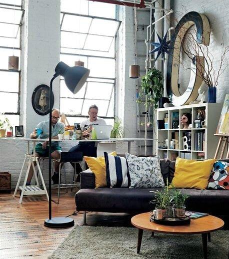 Un Loft Faon Atelier Dartistes Sonia Saelens Dco