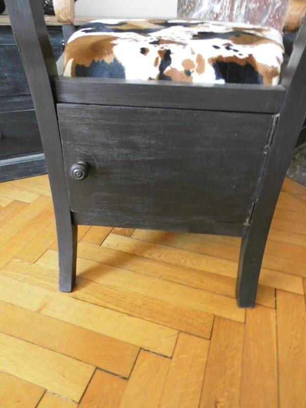 fauteuil vache dos