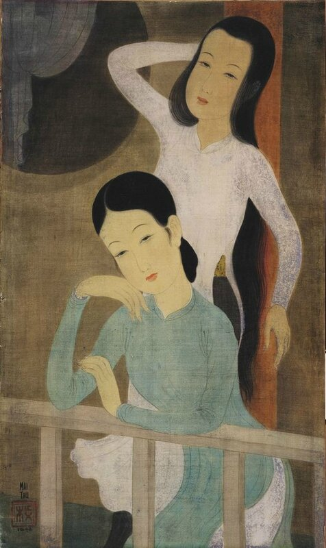 Mai Trung Thứ (1906-1980), Two Beauties, 1942