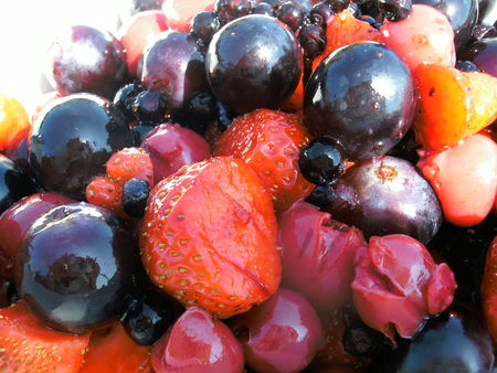 Salade de fruit rouge