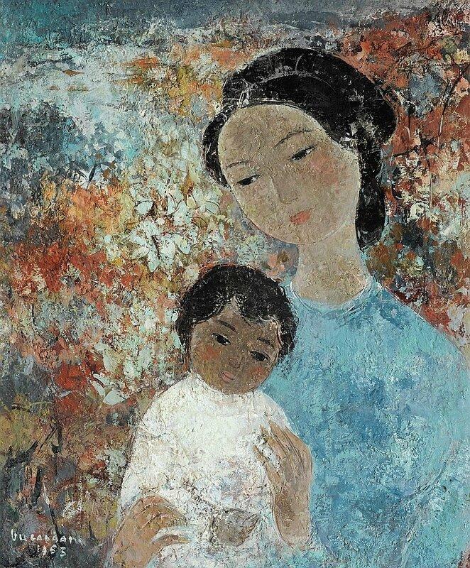 Vũ Cao Đàm (1908-2000), Mother and Child, 1963