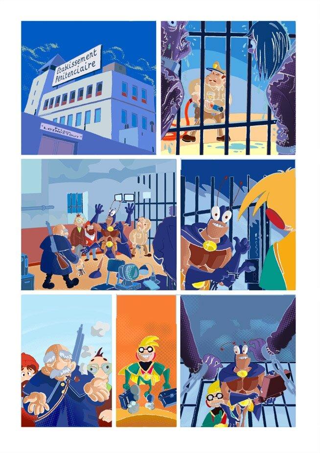 étape 04 couleurs page 11 Blateman et Bobine T1