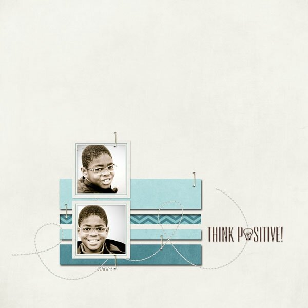 Think Positive Layout from Timounette