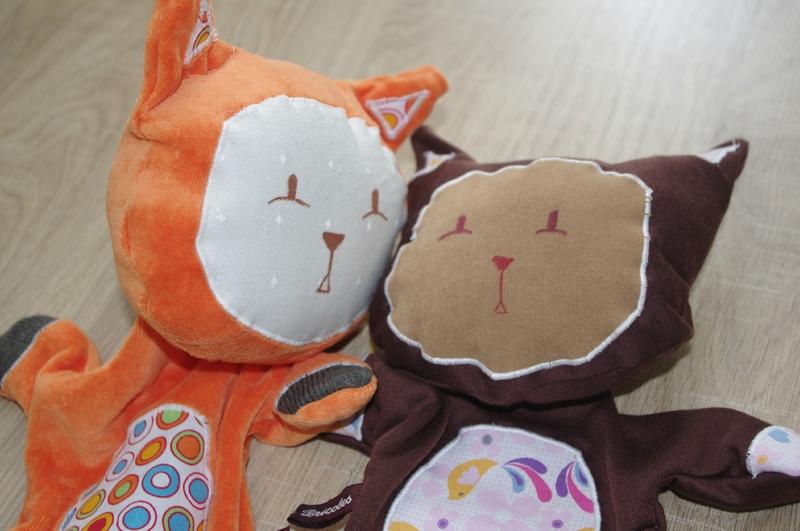 Duo de doudous chats - MaBoîteàBricoles