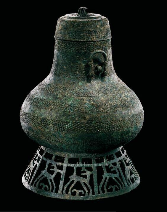 Grand vase avec son couvercle, hô, Vietnam, région nord ou provinces limitrophes de la Chine, culture de Dông Son