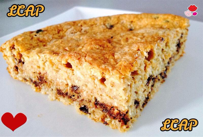 moelleux noix de coco et pépites de chocolat- la cuisine danna purple (2)
