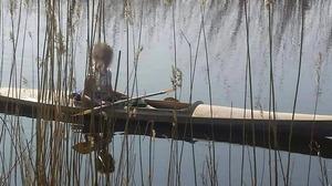 Zelfgemaakte kano/kajak weggenomen