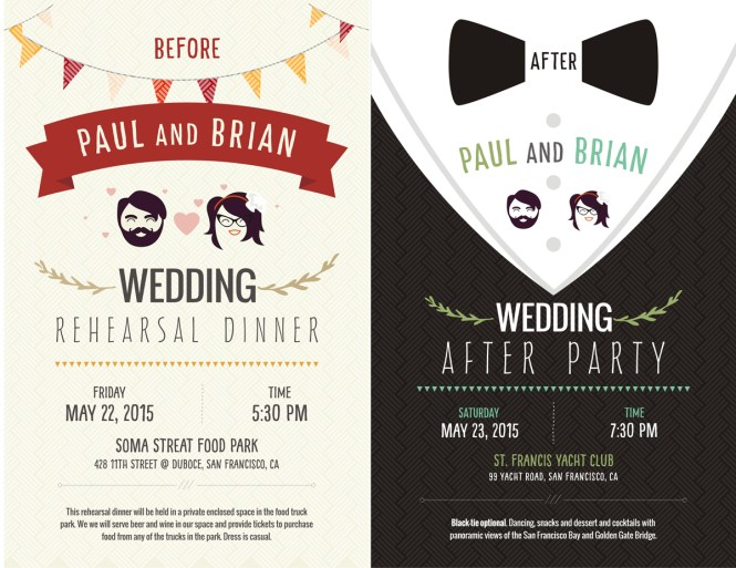 fun wedding party invitations invitation ideas
